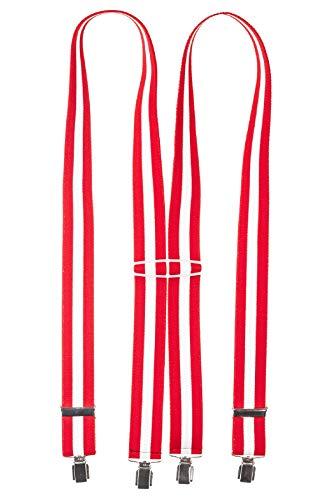 Shenky - Bretelles en X - 4 pinces résistantes - fabriquées en Allemagne - motif Autriche - taille unique