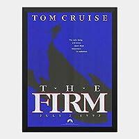 ハンギングペインティング - ザ ファーム THE FIRM トムクルーズ 2のポスター 黒フォトフレーム、ファッション絵画、壁飾り、家族壁画装飾 サイズ:33x24cm(額縁を送る)