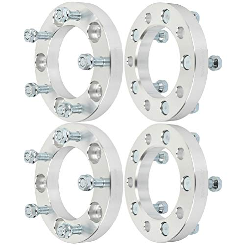 """ECCPP 4PCS 5 Lug 5x139.7 Wheel Spacers Adapters 1"""" 5x5.5 to 5x5.5 1/2"""" 108mm CB Compatible with 1990-1993 for Dodge D150 for Dodge Ram for F-ord Bronco 2002-2006 for F-ord E150 for F-ord E150"""