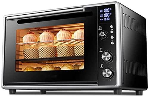 Mini horno eléctrico - Negro 50L Capacidad grande y consumidor y comercial Multifunción Multifunción Horno eléctrico, 56.5x39x35.9cm Horno de tostadora (Color: Negro)