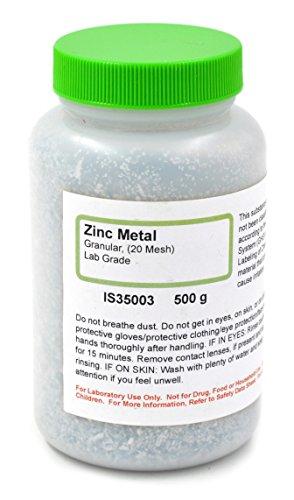 Lab-Grade Granular Metal Zinc, 20 M…