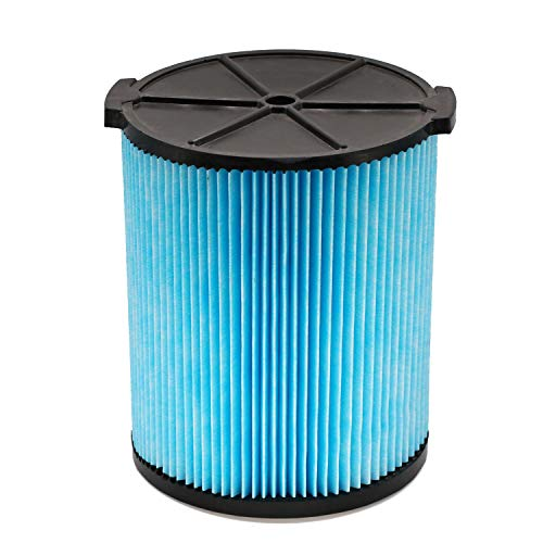 1 Pack VF5000 3-Layer Pleated Paper Vacuum Filter for Rigid Shop Vac 6-20 Gallon Wet Dry Vacuums WD1450 WD0970 WD1270 WD09700 WD06700 WD1680 WD1851 RV2400A