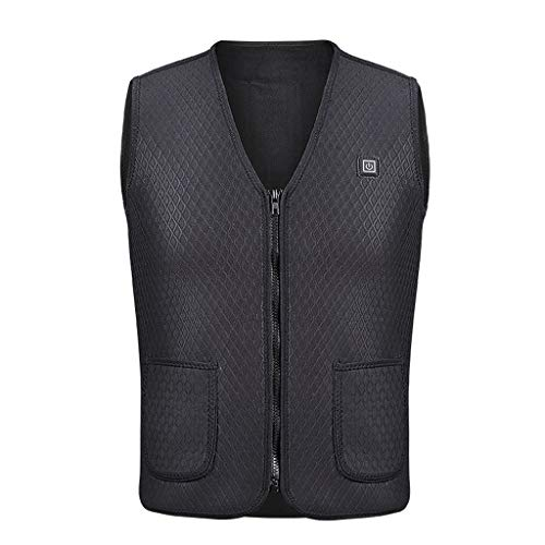 Learn More About Dainzuy Men Women Sleeveless Pocket Vest with Wool Winter Loose Vest Warmer Heating...