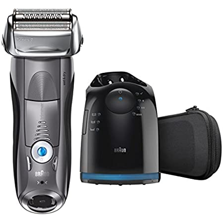 Braun Electric Razor for Men, Series 7 7865cc Electric Foil Shaver With Precision Beard Trimmer, Rechargeable, Wet & Dry, Clean & Charge Station & Travel Case
