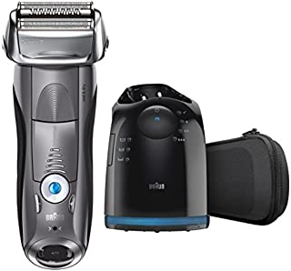 Braun Electric Razor for Men, Series 7 7865cc Electric Shaver With Precision Trimmer, Rechargeable, Wet & Dry Foil Shaver, Clean & Charge Station & Travel Case