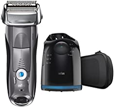 Braun Series 7 7865cc Electric Razor for Men, Rechargeable and Cordless Electric Shaver, Wet & Dry Foil Shaver, Grey, with Clean&Charge Station and Travel Case