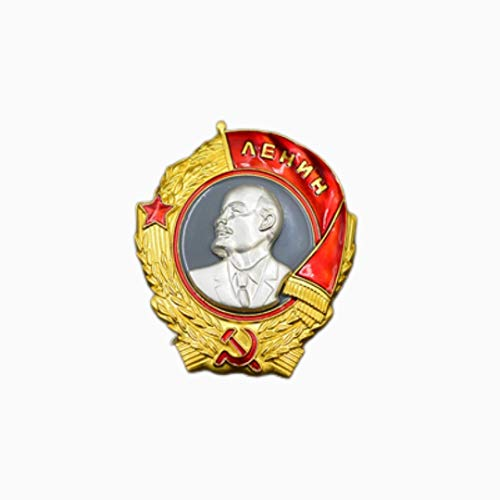 ZHAQU Soviet Union WWII CCCP Russian Lenin Red Square Youth Guards Medal Red Flag Five Star Metal Brooch Pin USSR Badge