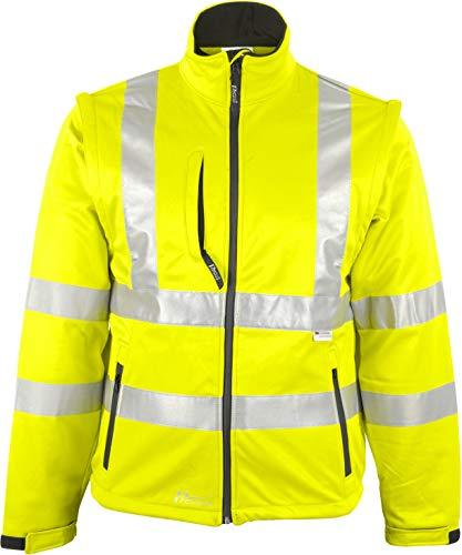Prevent Warnschutz-Softshell-Jacken 8060G, leuchtgelb, Gr. 2XL