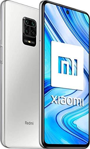 """Xiaomi Redmi Note 9 Pro - Smartphone de 64GB/6GB (6.67"""" DotDisplay, Cámara cuádruple de 64 MP con IA, Qualcomm SnapdragonTM 720G, Batería de 5020mAh, 30 W de carga rápida), Blanco (Glacier White)"""