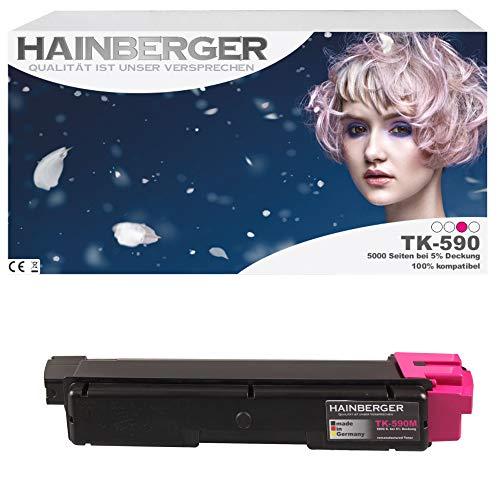 Hainberger Toner für Kyocera TK590 Magenta für ECOSYS M6526cdn / FS-C5250DN / ECOSYS P6026cdn / FS-C2126MFP / ECOSYS M6026cdn / FS-C2026MFP / FS-C2626MFP / ECOSYS M6526cidn / FS-C2526MFP / ECOSYS M6026cidn