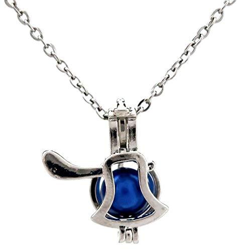 RQWY Halskette Kupfer Axt Perlen Käfig Anhänger Perle Aroma ätherisches Öl Diffusor Medaillon Halskette