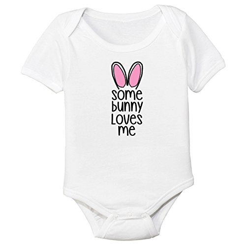 Promini Cute Some Bunny Loves Me Easter Cotton Baby Body Body Cool Baby Body Body