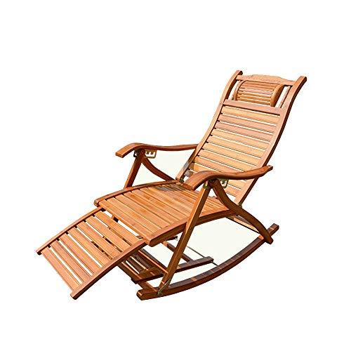 XUSHEN-HU Sedia di bambù Sedia di bambù Sedia a Dondolo Sedia Pieghevole reclinabile Sedia da Giardino Sedia a Dondolo Pieghevole