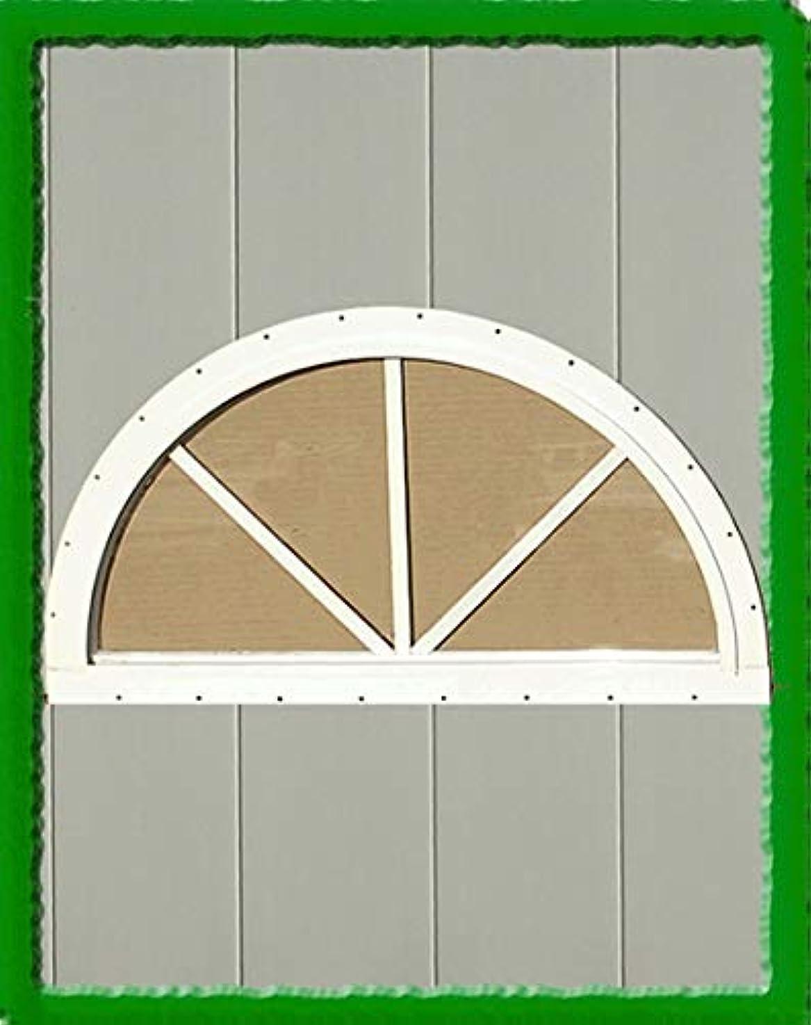 HALF MOON SUNBURST WINDOW (18
