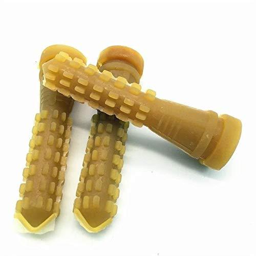 XHUENG Útil 50 PC 9.5 cm de eliminación de Aves de Corral Depilarse Fingers Pelo de la máquina Barra de Pegamento de Pollo Plucker Beef tendón Varilla de maíz Material de (Color : Gold, Size : M)