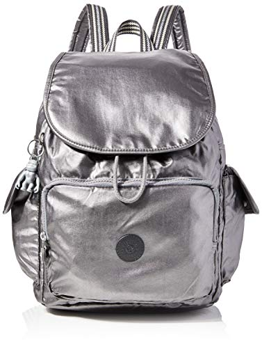 Kipling Damen City Pack Rucksack Schwarz (Carbon Metallic)