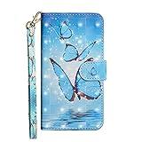 QiuKui Étuis pour LG V50 G8 Minoc K8 K9 K9 K10 K11 Aristo 2 Plus, étui de Portefeuille à Rabat en...