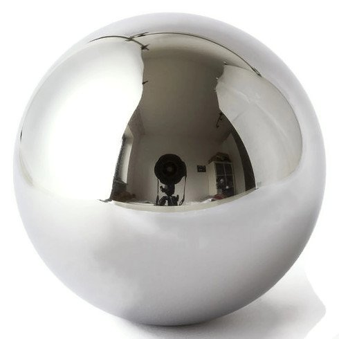 One Large 4' Inch Chrome Solid Steel Bearing Ball G100