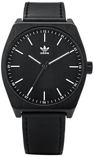 Adidas Herren Analog Quarz Uhr mit Leder Armband Z05-756-00