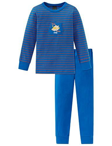 Schiesser Jungen Rat Henry Kn Anzug lang Zweiteiliger Schlafanzug, Blau (Blau 800), (Herstellergröße: 116)