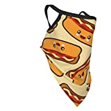 Akhy Hot Dog Sausages Design Bandana Teen's Face Mask Bandanas for Boy & Girl's Neck Gaiters with Filter Face Scarf
