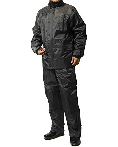 レインスーツ 上下 メンズ (耐水圧:20000mmH2O) (肩/股下 補強加工) (袖口調節機能) (袖裏地メッシュ加工) L ダークグレー AS-5400-L