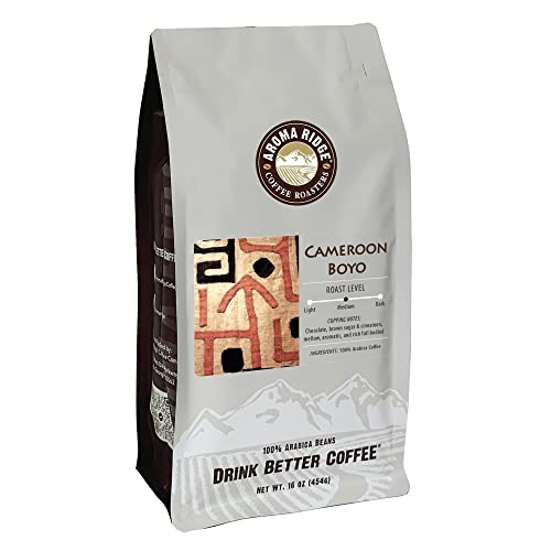 Aroma Ridge, Cameroon Boyo Coffee, Rare Hand Selected Beans Grown in Rich Volcanic Soil, 16ounce, Whole Bean