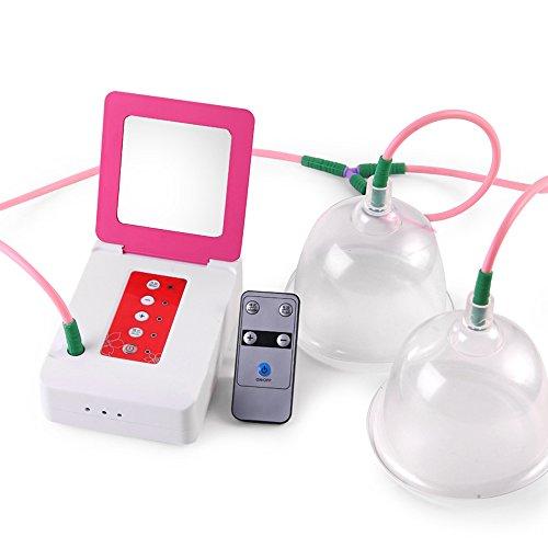 LEMONPI Électrique du Sein Instrument Vacuum Vide Double Tasse Électrique du Sein Masseur sans Fil Télécommande Sein Massage Nursing Maison du Sein Meibao,Pink,L