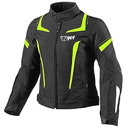 JET Chaqueta Moto Mujer Textil Impermeable con Armadura (2XL (ES 44-46), Fluro)