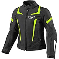 JET Chaqueta Moto Mujer Textil Impermeable con Armadura (3XL (ES 46-48), Fluro)