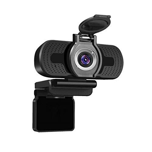 MELARQT Webcam 1080p HD Videokamera PC Laptop Kamera mit Webcam-Abdeckung, USB 2.0 Unmanned Laufwerk Webcam mit Mikrofon, Autofokus, 360 Grad Drehung für Videoanrufe, Konferenzen, YouTube