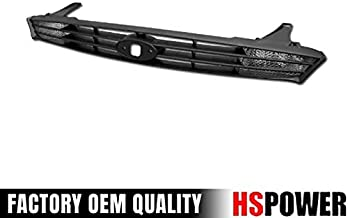 HS Power Black Finished Factory Sport Front Hood Bumper Grill Grille Guard 2000-2004 for Ford Focus