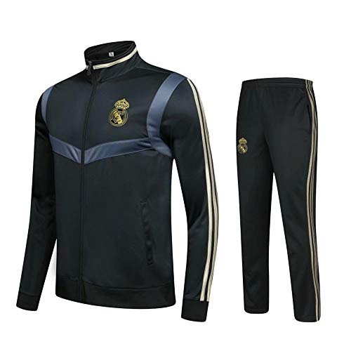 ONBaoFu 2019-2020 Benutzerdefinierte Langärmelige Fußball Uniform Fußball Jersey Set für Herren Erwachsene Kinder Jungen Langarm Jacke Mantel und Hose mit Reißverschluss