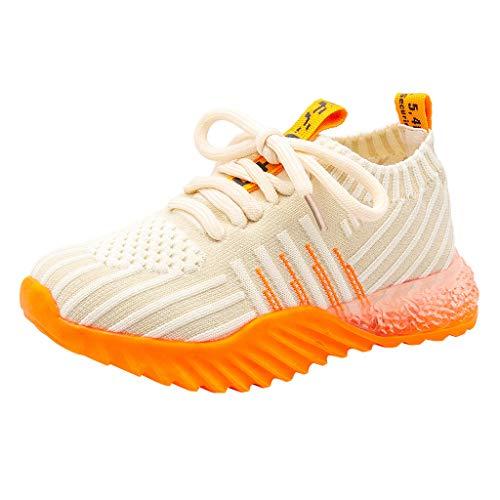 Alwayswin Unisex Kinder Leichte Atmungsaktive Turnschuhe Casual Outdoor-Sportschuhe Jungen Mädchen Mode Bequeme Sneakers Weicher Boden rutschfeste Laufschuhe Freizeitschuhe