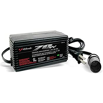 Schumacher AC to DC Power Converter with 12V DC Port that Plugs into 12V AC Outlet - 70 Watts Continuous 140 Peak Watts