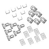 PandaHall Elite 10pcs Eisen Push Lock Sets für Tasche DIY, Platin, 35x25x11mm