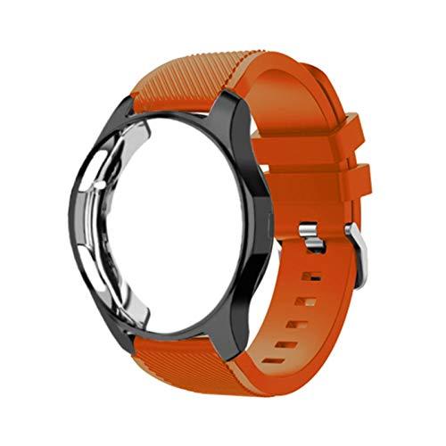 Caso de silicona + banda para Samsung Galaxy Watch 46mm / 42mm Correa Strap Gear S3 Frontier Band Sports Wamkband + Protector Watch Case *4*