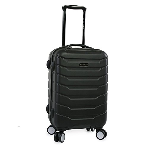 Perry Ellis Traction Hardside Spinner Carry On Luggage, Black, One Size