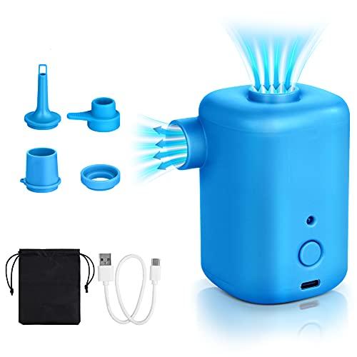 wilbest® Bomba de Aire Eléctrica, con 4 Boquillas, Bomba de Camping Inflada...