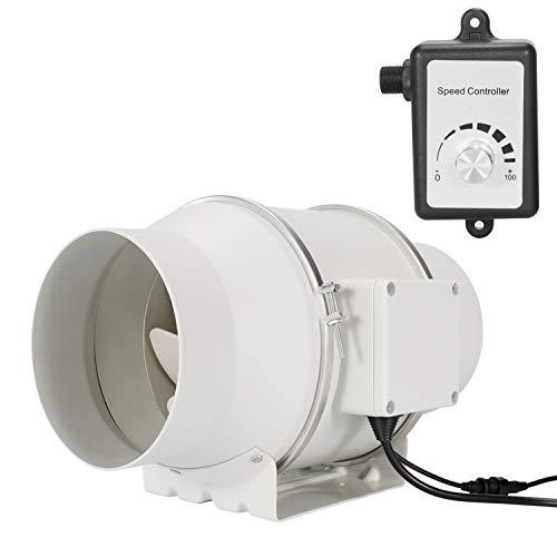 OOPPEN 15,2 cm Inline-Rohrventilator mit variabler Geschwindigkeitsregelung für Standard-Küchen/Hydrokultur-Zelt/Badezimmer (ø 150 mm)