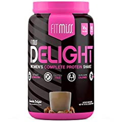 WOMEN'S COMPLETE PROTEIN SHAKE: FitMiss Delight is the perfect women's complete protein shake. The superior and safe ingredients support weight loss, lean muscle mass development, and recovery. CLINICALLY PROVEN APPETITE CONTROL: This whey protein sh...