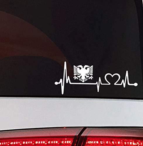 Albanien Herzschlag Auto Aufkleber Albania Flag Sticker Albanien Flagge Tattoo