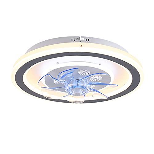 Ventilador De Techo Ventilador De Lámpara De Techo LED, Regulable Y Velocidad del Viento, con Control Remoto, Dormitorio Silencioso, Sala De Estar, Lámpara con Ventilador De Lámpara