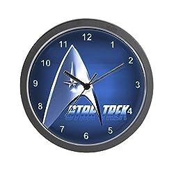 CafePress Blue Star Trek Unique Decorative 10 Wall Clock