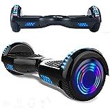 Magic Vida Skateboard Électrique 6.5' Bluetooth Puissance 700W Deux Barres LED Gyropode Auto-Équilibrage de Bonne qualité Noir