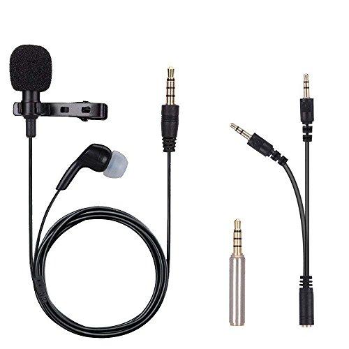 Microfono de solapa, iGOKU Micrófono bidireccional Mini Mic Lapel...