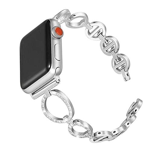 Banda de diamantes para mujer para Apple Watch correa 38 mm 42 mm iwatch band series 5 4 3 Correa de repuesto para Apple Watch band 6 44 mm 40 mm 2