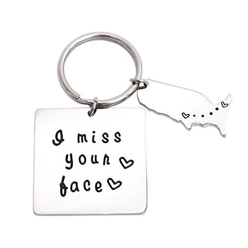 I miss Your Face Schlüsselanhänger Valentines Freund Freundin Geschenk Long Distance Beziehung Geschenke