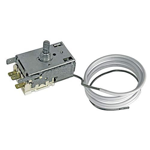 Liebherr 6151196 ORIGINAL Thermostat Temperatur Regler Kühlthermostat K59-L2118 Ranco 800mm Kapillarrohr 3x4,8mm AMP für Kühlschrank