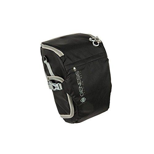 Genesis Rover L Colttasche schwarz für DSLR Kamera, Systemkamera (wasserabweisende Bauchtasche, Zubehörtasche, Schnellzugriff)